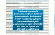 Facebookta otomatik paylaşım nasıl yapılır