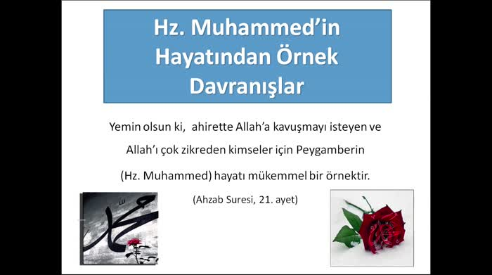 Hz. Muhammedin (SAV) Hayatından Örnek Davranışlar...
